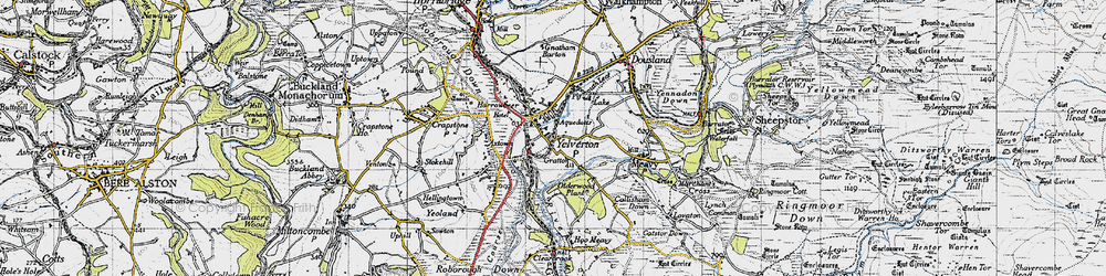 Old map of Yelverton in 1946
