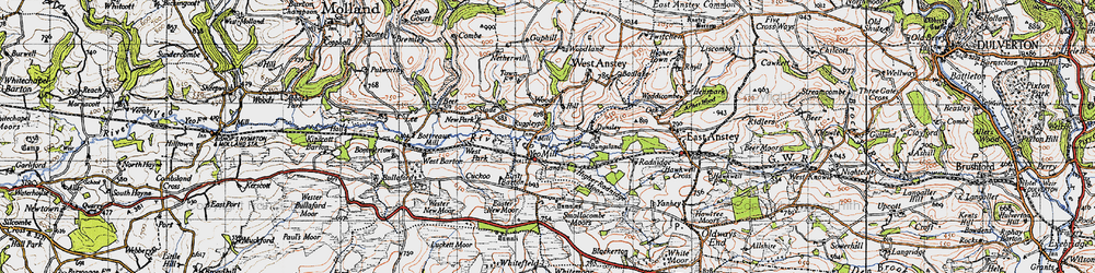 Old map of Yeo Mill in 1946