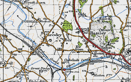 Old map of Yew Green in 1947