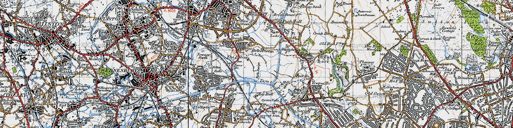 Old map of Yew Tree in 1946