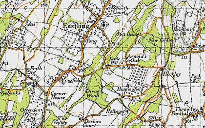 Old map of Yewhedges in 1946