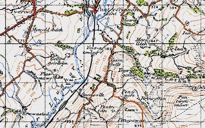 Old map of Ynus-tawelog in 1947