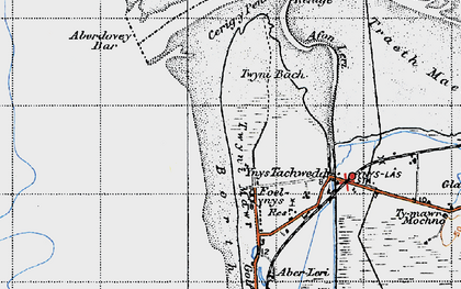 Old map of Aberdovey Bar in 1947