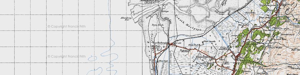 Old map of Ynys Tachwedd in 1947