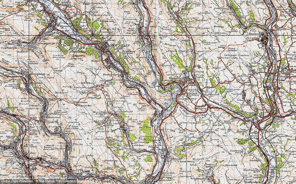 Old Map of Ynysboeth, 1947 in 1947