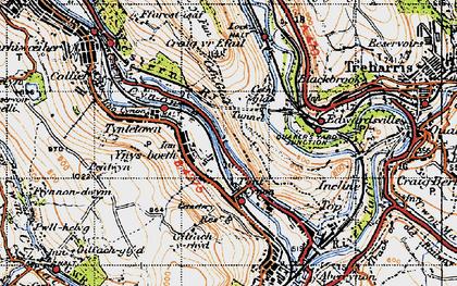 Old map of Ynysboeth in 1947