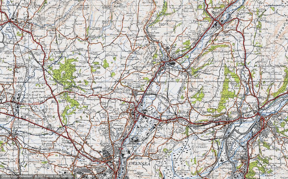 Old Map of Ynysforgan, 1947 in 1947