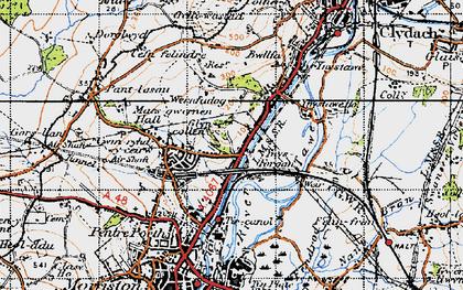 Old map of Ynysforgan in 1947
