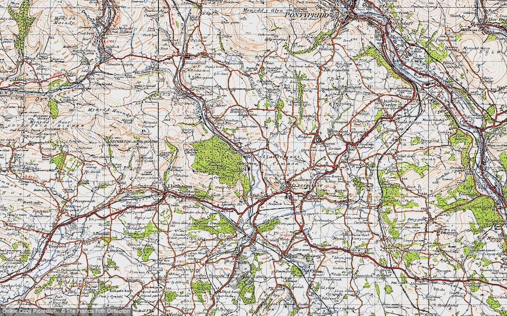 Old Map of Ynysmaerdy, 1947 in 1947