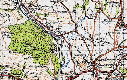 Old map of Ynysmaerdy in 1947