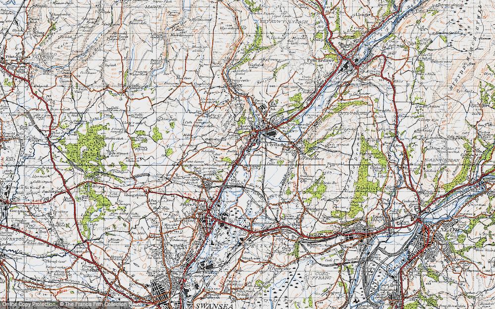 Old Map of Ynystawe, 1947 in 1947
