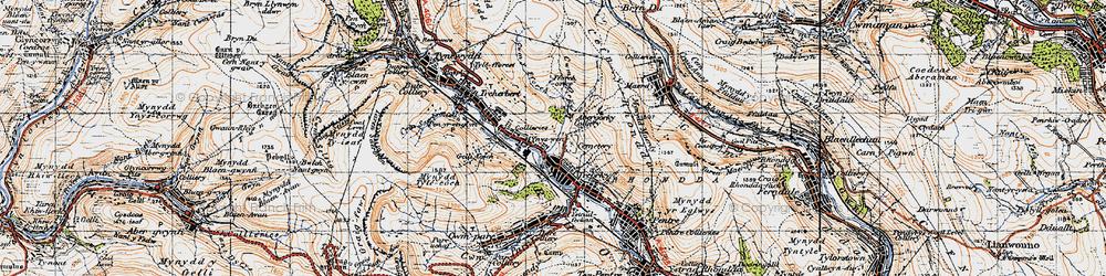 Old map of Ynyswen in 1947