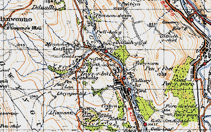Old map of Y Ffrwd in 1947
