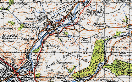 Old map of Ynysygwas in 1947