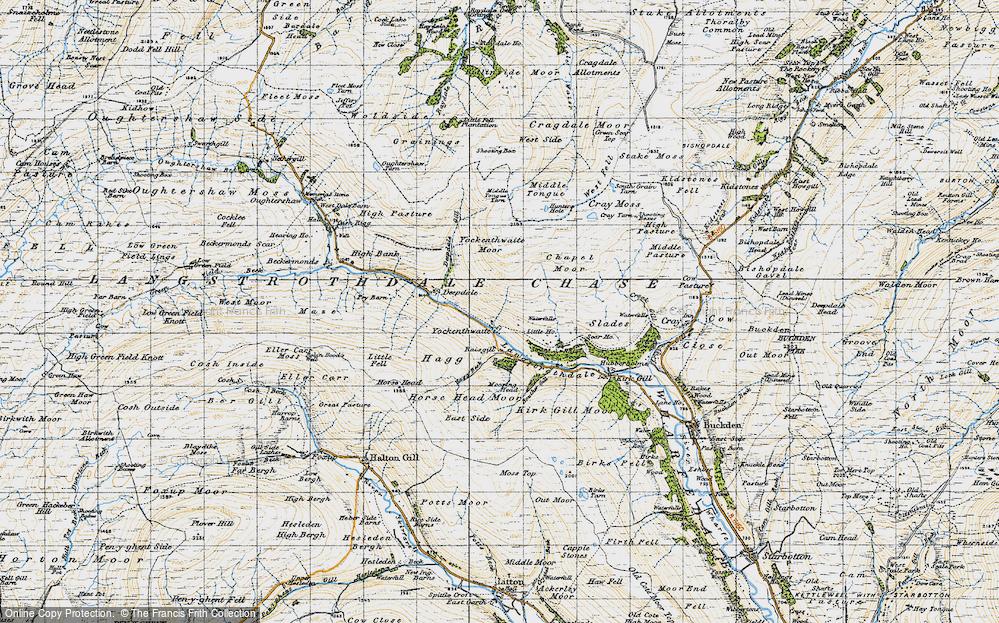 Old Map of Yockenthwaite, 1947 in 1947