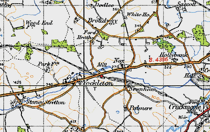 Old map of Yockleton in 1947