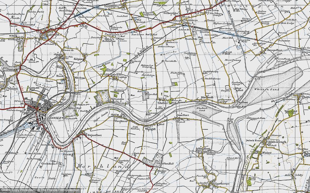 Old Map of Yokefleet, 1947 in 1947
