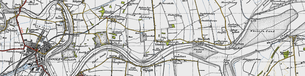 Old map of Yokefleet in 1947