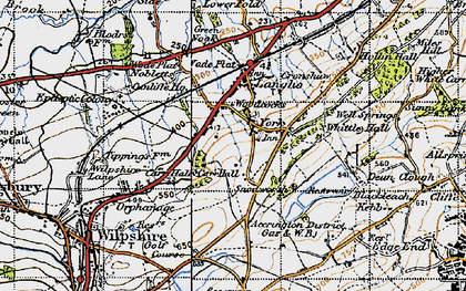 Old map of York in 1947