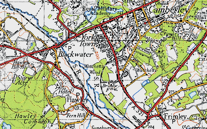 Old map of York Town in 1940
