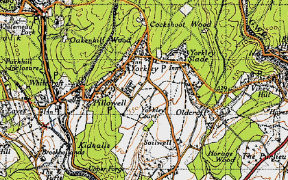Old map of Yorkley in 1946