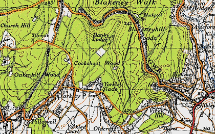 Old map of Yorkley Slade in 1946