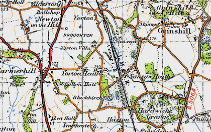 Old map of Yorton Heath in 1947