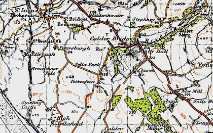Old map of Yottenfews in 1947