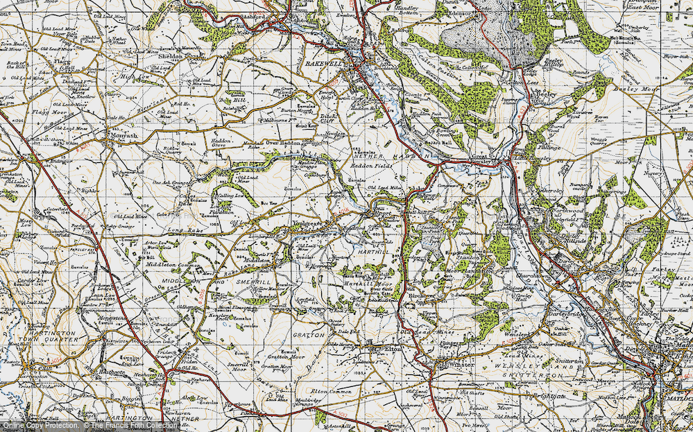 Old Map of Youlgreave, 1947 in 1947