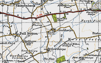 Old map of Youlthorpe in 1947