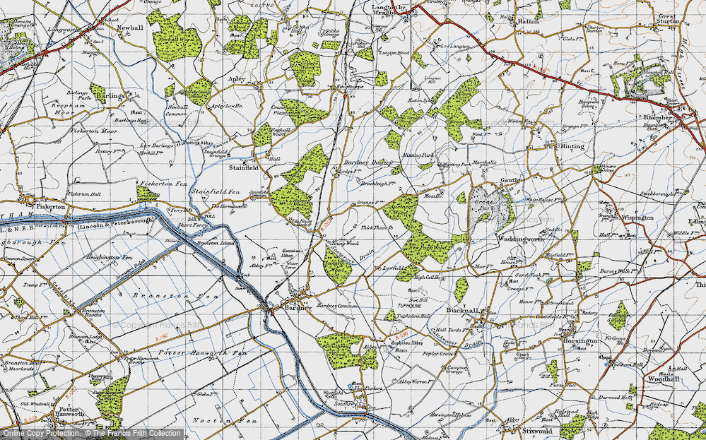 Old Map of Historic Map covering Austacre Wood in 1946