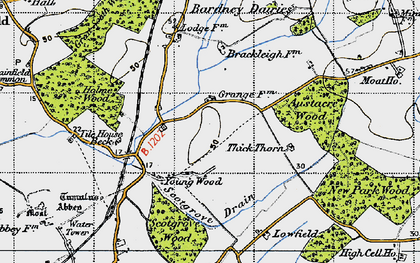 Old map of Austacre Wood in 1946