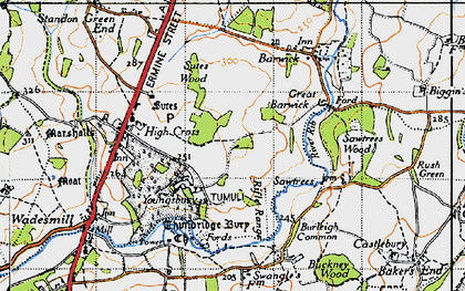 Old map of Youngsbury in 1946