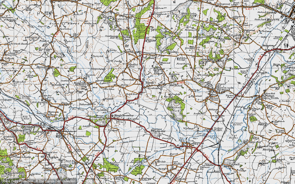 Old Map of Yoxall, 1946 in 1946