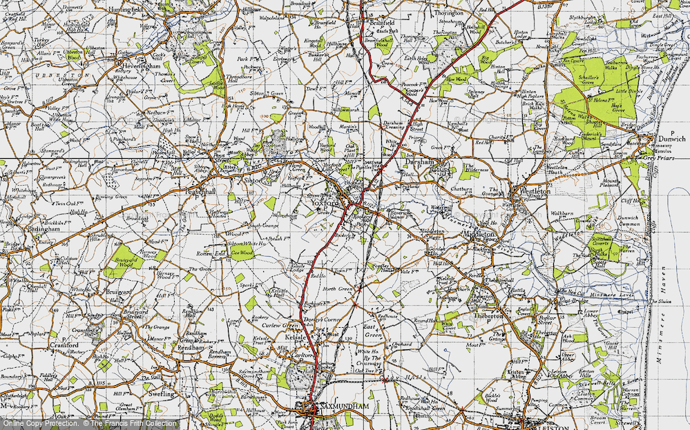 Old Map of Yoxford, 1946 in 1946