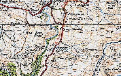 Old map of Afon Merin in 1947