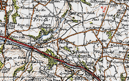 Old map of Ysceifiog in 1947