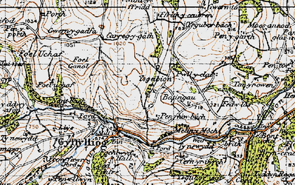 Old map of Ysgeibion in 1947