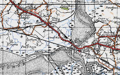Old map of Yspitty in 1947