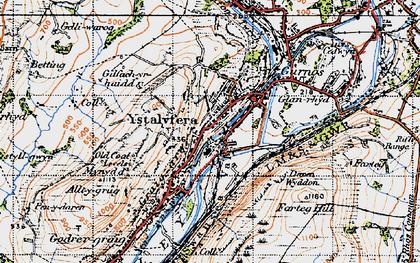 Old map of Ystalyfera in 1947