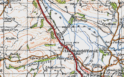 Old map of Allt y Fron in 1947