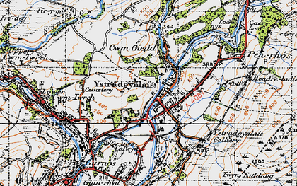 Old map of Ystradgynlais in 1947