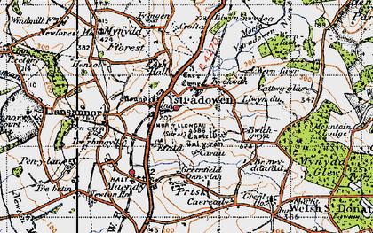 Old map of Ystradowen in 1947