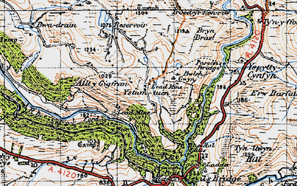 Old map of Allt-y-Gigfran in 1947