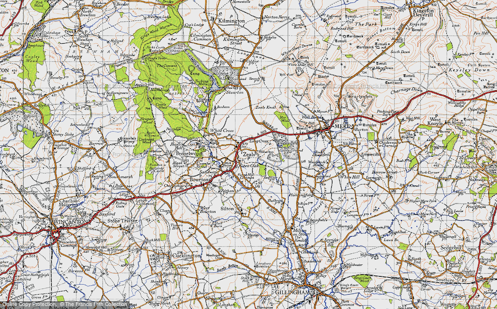 Old Map of Zeals, 1945 in 1945