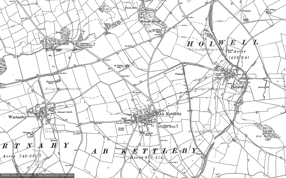 Old Map of Ab Kettleby, 1883 - 1902 in 1883