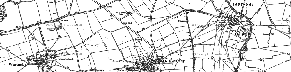 Old map of Ab Kettleby in 1883