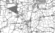 Old Map of Abberton, 1895 - 1896