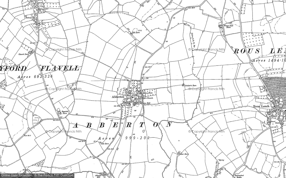 Old Map of Abberton, 1903 in 1903