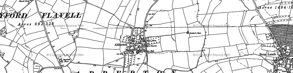 Old map of Abberton in 1903